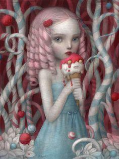 Nicoletta Ceccoli - Illustration - Beautiful Nightmare Just Like Heaven Mark Ryden, Fantasy Kunst, Fantasy Art, Evvi Art, Arte Lowbrow, Art Beat, Creepy Cute, Whimsical Art, Surreal Art