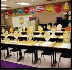 Student selfies for open-house or curriculum night. Classroom Crafts, School Classroom, Classroom Activities, Classroom Organization, Classroom Ideas, Future Classroom, Back To School Night, School Fun, School Teacher