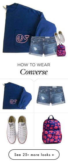 """playing 8 ball!! on game pigeon😂"" by southernmermaid on Polyvore featuring AG Adriano Goldschmied, Vera Bradley and Converse"