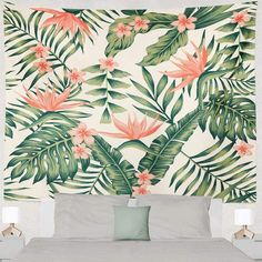TapestryGirls.com Tapestry Nature, Local Artists, Wall Colors, Girl Room, Black Backgrounds, Pink And Green, Decor Styles, Hawaii, Girls