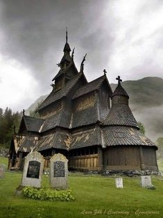 NORWAY - influence of Viking architecture on orthodox churches century wooden church Borgund, Sogn og Fjordane, Norway. Beautiful Buildings, Beautiful Places, Places To Travel, Places To See, Places Around The World, Around The Worlds, Old Churches, Place Of Worship, 12th Century