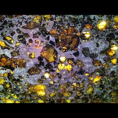A section of a meteorite via @tokcaer