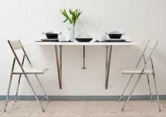 Folding table, foldable and wall mounted table | Newtableconcept