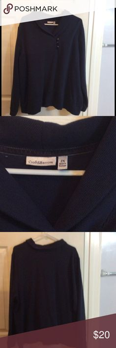 Navy Blue Sweater 2X This is a Croft&Barrow 2X Navy sweater!  Worn once! croft & barrow Sweaters