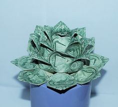 37 best money origami flower images on pinterest in 2018 money money flower origami lotus money lotus dollar bill flower lotus flower water lily graduation gift christmas holiday mightylinksfo