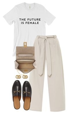 """Untitled #5590"" by theeuropeancloset on Polyvore featuring Rosie Assoulin, Chloé and Gucci"