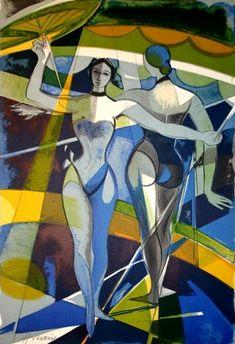 Cirque: Equilibristes, lithograph. Galerie 125