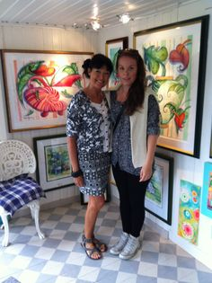Tina Elfast & Ida von Gegerfelt and my paintings