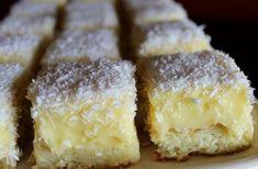 Easy Cake : Luxury cube with egg yolk cream and coconut , Easy Cake Recipes, Sweet Recipes, Dessert Recipes, Desserts, Czech Recipes, Sweet Cakes, Sweet And Salty, Something Sweet, Boleros