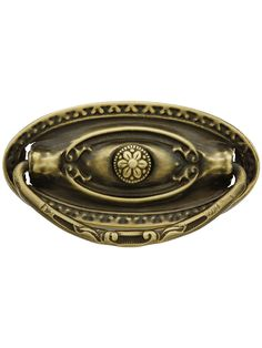 Replacement Drawer Pulls. Large Colonial Revival Style Single Post Pull in Antique-By-Hand Finish 3 inch (11.79)
