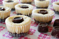 Decadent Rolo cheesecake bites - CherylStyle