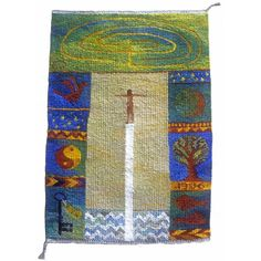Oh, I who wish to grow, a tapestry weaving by Kirsten Glasbrook