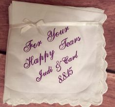 Great Bridesmaid Gift For Cryin Out Loud Wedding Handkerchief by Wedding Tokens