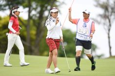 Pei-Ying Tsai Photos Photos - Pei-Ying Tsai of Taiwan celebrates after making her birdie putt on the 14th hole during the second round of the Resorttrust Ladies at the Oakmont Golf Club on May 27, 2017 in Yamazoe, Japan. - Resorttrust Ladies - Day 2