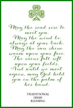 Irish Blessing Free Printable from onsuttonplace.com