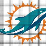 MIAMI DOLPHINS Graphghan Pattern - via @Craftsy