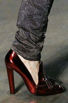 Spend or Spree: Alexander Wang's Anais Metallic Leather Loafer Pumps vs. KG by Kurt Geiger's Envy Tassle Vamp Court Shoes Pretty Shoes, Beautiful Shoes, Cute Shoes, Me Too Shoes, Red Shoes, Shoes Heels, Pumps, Crazy Shoes, Fashion Shoes