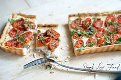 Tomato Basil Tart with Roasted Garlic Ricotta