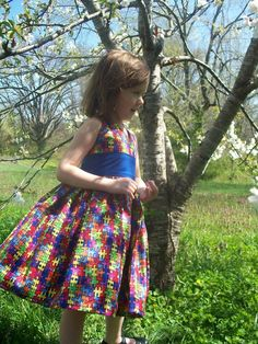 Girls autism dress... LOVE it!  I want one for Skylynn!!!