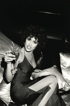 Roxanne Lowit - Salma Hayek in studio 54 Movie NY 1997