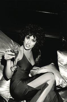 Roxanne Lowit - Salma Hayek in studio 54 Movie NY 1997