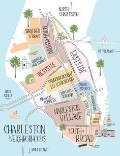 Navigating the Charleston peninsula should be a sea breeze. South Carolina Vacation, Charleston South Carolina, Isle Of Palms South Carolina, Map Of Charleston Sc, Charleston Sc Things To Do, Folly Beach South Carolina, Charleston Beaches, Charleston Gardens, Down South