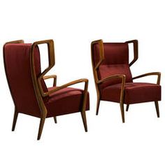 Pair of Armchairs by Gio Ponti, 1946, MICHAEL BROTHER2