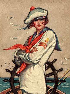 Ruth Eastman Sailor Girl... vintage poster...