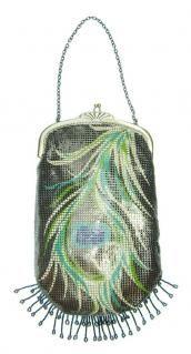 Fantastic Whiting & Davis peacock vintage purse. $205 WANT!