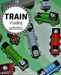 Learn to read with Thomas the Tank Engine train games - ideas for learning ABC's, sight words, letter sounds, and more!