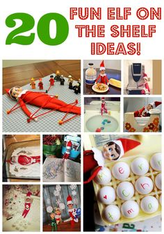 20 Fun Elf on the Shelf Ideas to keep your elf moving. Elf antics and fun mischief for your Elf on the Shelf this holiday season. Holiday Crafts, Holiday Fun, Holiday Quote, Thanksgiving Holiday, Holiday Decorations, Holiday Ideas, All Things Christmas, Christmas Holidays, Christmas Ideas