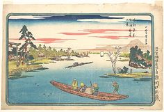 Utagawa Hiroshige (Japanese, 1797–1858). A View of Late Spring at Masaki, 1831. The Metropolitan Museum of Art, New York. The Howard Mansfield Collection, Purchase, Rogers Fund, 1936 (JP2459) #spring