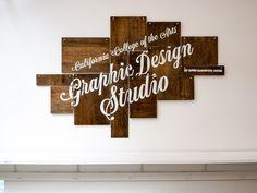 CCA Graphic Design Studio sign by James T. Edmonson