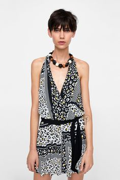 bc5bb6630c99 Image 2 of ANIMAL PRINT JUMPSUIT from Zara Stuffed Animal Patterns, Rompers  Women, Jumpsuits