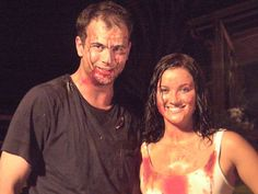 """Ashley Marie Nelson and Dustin Webb on our last night of filming """"In The Devil's Courthouse"""""""