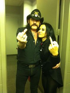 Cristina Scabbia and Lemmy. this pic owns!