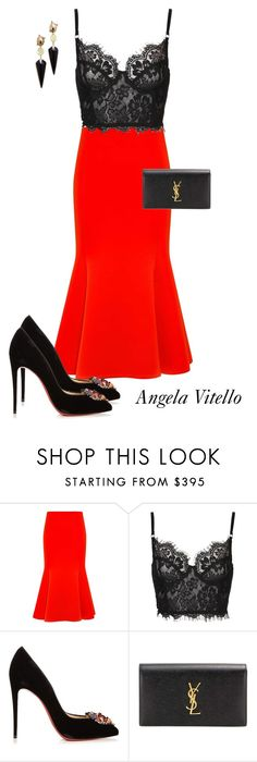 """""""Untitled #919"""" by angela-vitello on Polyvore featuring McQ by Alexander McQueen, Christian Louboutin, Yves Saint Laurent and Alexis Bittar"""