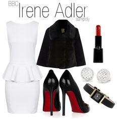 """Irene Adler"" by sampoly on Polyvore. At least this isn't her ""Battle Dress"""