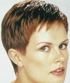 Short crop pixie style is great for young and old. The shortness of the style makes it very easy to maintain. This is a wash and go style