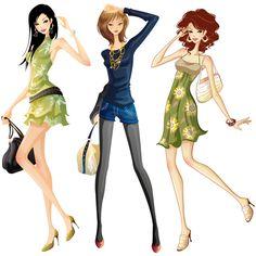 Jovensitas de compras - Vector