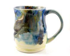 This beautiful mug is like a watercolor painting.