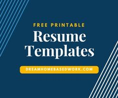 humor Free Printable Resume Templates