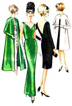 Dress Making Patterns, Vintage Dress Patterns, Clothing Patterns, Vintage Dresses, Vintage Outfits, Vintage Clothing, 1960s Dresses, 1960s Fashion, Look Fashion