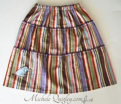 Recently, I sewed up a few much needed skirts for my youngest daughter.  They were ridiculously easy to make.  This is the type of tiered skirt you see in the stores.  Not that it matters if they l…