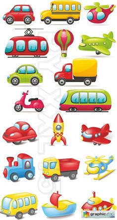 Vector Cartoon transport
