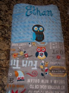 Soft personalized. Adornit Minky Cuddle Owl by PreciousLoveDesigns, $39.00