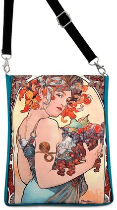 Alphons Mucha's Fruit. Classic Art Nouveau by BabaStudioPrague, $56.00