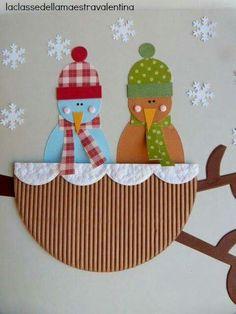 Boom in de sneeuw - diy and crafts Craft Activities For Kids, Preschool Crafts, Kids Crafts, Diy And Crafts, Fall Paper Crafts, Scrapbook Paper Crafts, Winter Crafts For Kids, Art For Kids, Winter Theme