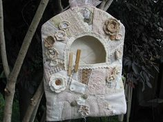 How to sew a crazy quilt clothespin bag.