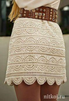 Crochet A-line Mini Skirt Free Pattern- Crochet Women Skirt Free Patterns (Top Moda Crochet) Skirt Pattern Free, Crochet Skirt Pattern, Crochet Skirts, Crochet Clothes, Free Pattern, Skirt Patterns, Crochet Patterns Free Tops, Knitting Patterns, Mode Crochet